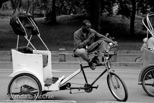 central park rickshaw driver