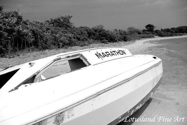 abandoned boat at jamaica bay
